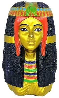 Vintage Queen Cleopatra Mini Bust Queen Cleopatra Carved Egyptian
