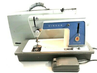 Vintage Singer Sewing Machine Model 604 Touch & Sew NEEDS MISSING BOBBIN PLATE