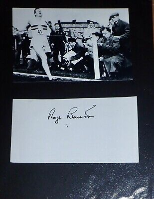 Sir Roger Bannister UK Athletics Legend signed Approx 10 x 8 Signature Piece