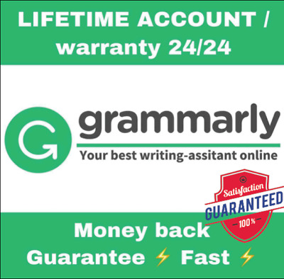   SALE   Grammarly Premium Oneyear  Account [Fast Delivery] 100% Guaranteed