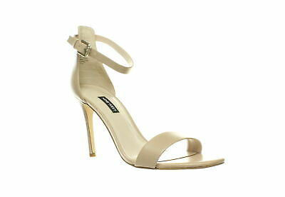 Nine West Womens Mana Beige Ankle Strap Heels Size 10 (602550)