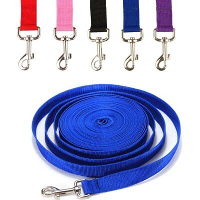 10M Dog Lead Leash Training Long Line Recall Walking Obedience Hunting Tie Down