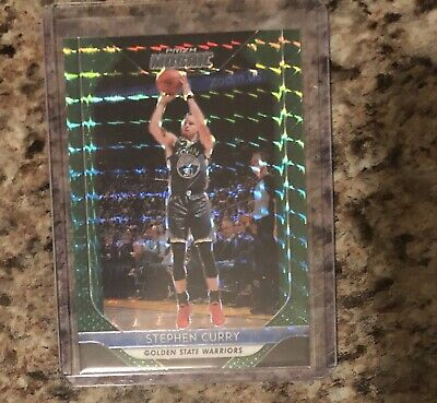 Stephen Curry  2019 PANINI PRIZM MOSAIC GREEN PARALLEL SP  WARRIORS NO. 90