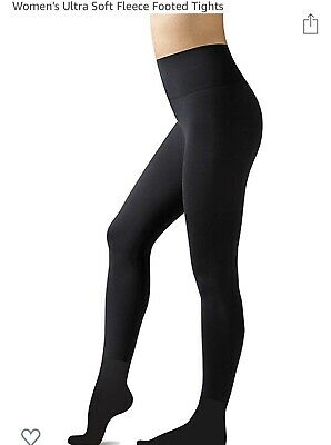 2 PAIRS  Warner's Ultra Soft Fleece Lined Black Tights Size 2X/3X..NEW!!