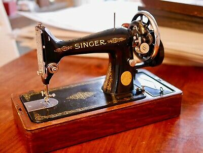 Vintage 1938 Singer Hand Crank Sewing Machine