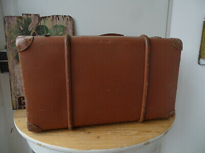 V1835 Old Travel Cases um 1930 ~Vintage~ Classic Car Suitcase with Wooden Strips