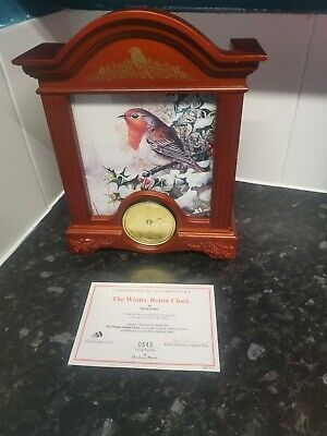 The Winter Robin Clock Danbury Mint
