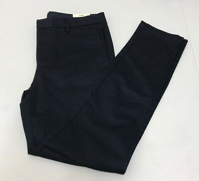 River Island Navy skinny fit chino trousers Size UK32L  RRP£28 {R11}