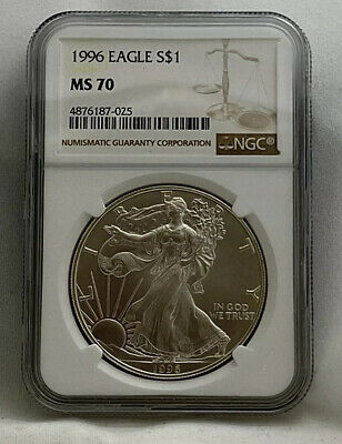 1996 1 Oz Silver Eagle NGC MS 70
