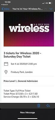 Wireless Festival 2020 - Saturday Day Ticket X3 / Sat + Sun