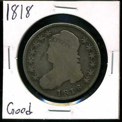 1818 50C Capped Bust Half Dollar in Good Condition