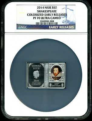 2016 Giant Panda NGC PF 70 Ultra Cameo Proof Niue Silver $2 World #21593A