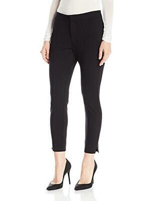"New!! $128 Nydj Hi Rise ""Betty"" Seamed Ponte Knit Ankle Pants In Black Size 10"