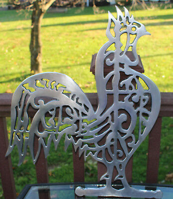 WILTON Armetale Rooster Metal Wall Art Hanging Home Decor Farm