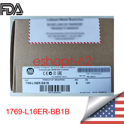 Factory Sealed  Allen Bradley 1769-L16ER-BB1B CompactLogix 384KB Processor USA