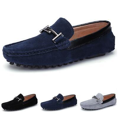 Mens Pumps Loafers Driving Moccasins Shoes Slip on Flats Comfy Breathable Casual