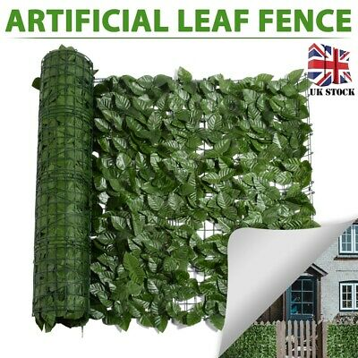 ARTIFICIAL MAPLE LEAF PRIVACY SCREEN EXPANDING WILLOW TRELLIS GARDEN DECOR 2x1m