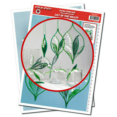 Quilling Template, Extra Lily of the Valley