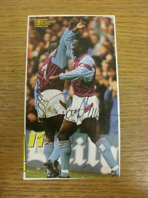 1990-1992 Football Autograph: Aston Villa - Dwight Yorke & Tony Daley [Hand Sign