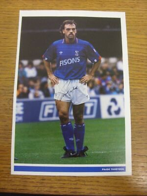 1975-1984 Football Autograph: Ipswich Town - John Wark [Hand Signed, Colour, Mag