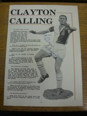 1950-1969 Football Autograph: Blackburn Rovers - Ronnie Clayton [Hand Signed, Bl