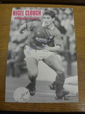 1984-1993 Football Autograph: Nottingham Forest - Nigel Clough [Hand Signed, Bla