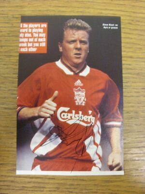 1981-1994 Football Autograph: Liverpool - Steve Nicol [Hand Signed, Colour, Maga
