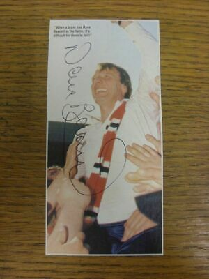 1988-1995 Football Autograph: Sheffield United - Dave Bassett [Hand Signed, Colo