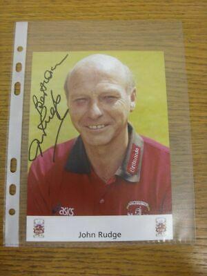 1999-2013 Football Autograph: Stoke City - John Rudge [Hand Signed, Official Clu
