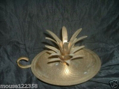Huge Pineapple Shaped Solid Brass Candle Holder