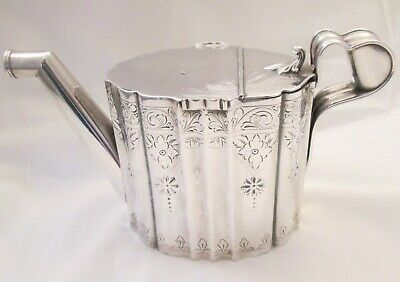 A Fine Rare Vintage Antique Silver Plated Watering Can c1900