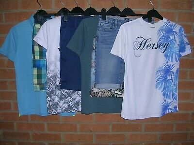 GAP TU HERSEY etc Boys Summer Bundle Tops Denim Shorts Shirts Age 11-12