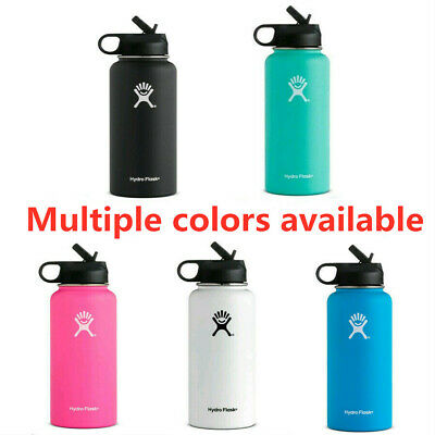Hydro Flask 32oz Wide Mouth Stainless Steel Bottle With Flip Up Straw Lid - New