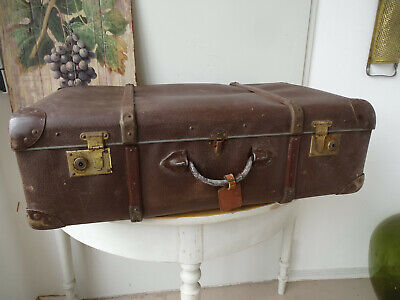V1806 Old Travel Cases um 1930 ~Vintage~ Classic Car Suitcase with Wooden Strips