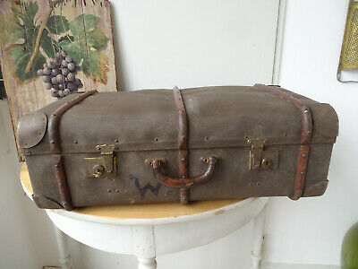 V1793 Old Travel Cases um 1930 ~Vintage~ Classic Car Suitcase with Wooden Strips