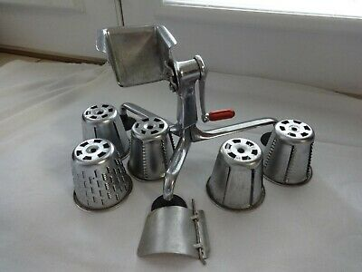 SALADMASTER Salad Master Food Processor Machine 5 Cones Slicer Grinder Grater