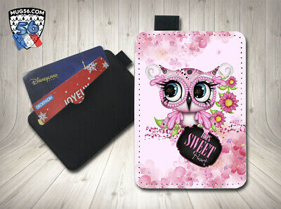petit porte cartes card holder - hibou chouette 002