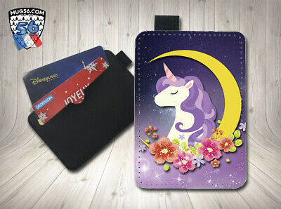 petit porte cartes card holder - licorne unicorn 01