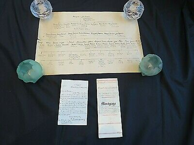 Deakin. Mortgage Indenture for Cowper Cottages Shrewsbury. Family Tree.