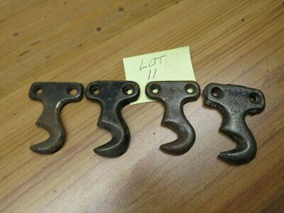 Antique Singer Treadle Sewing Machine Drawer Parts Cast Iron Hooks Brackets Set