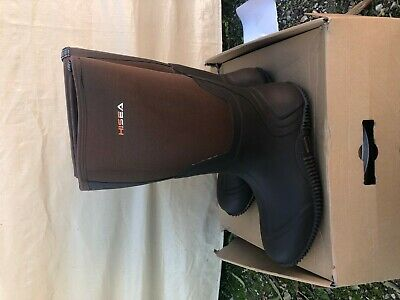 Hisea Waterproof Insulated Neoprene Rubber Boots Mens Size 13