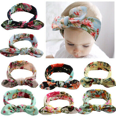SN_ Kids Baby Girls Headband Bow Knot Flower Hair Band Accessories Headwear We