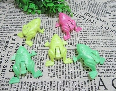 195Pcs Funny Jumping Frog Toys Party Favor Mixed Colour