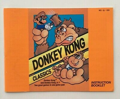 Donkey Kong Classics Nintendo NES INSTRUCTION MANUAL ONLY DK + DK Jr