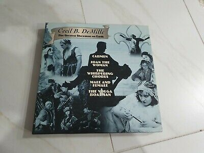 Cecil B. DeMille The Greatest Showman on Earth Boxset laserdisc laser disc