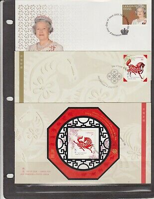 Canada FDC's 2002,Year Set ( 32 Covers - 9 Scans )