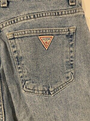 """Vintage GUESS Jeans High Rise Mom Jeans Light Wash Women's Size 32 (30"""" x 28"""")"""