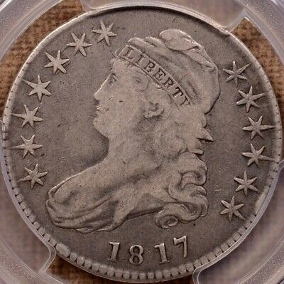 1817 O.105 Capped Bust half, F15, Rare VEDS, nearly Prime     DavidKahnRareCoins