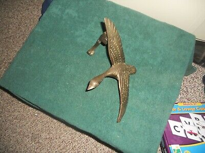 Vintage Solid Brass Flying Goose Duck Door Knocker Windcurrent Collection