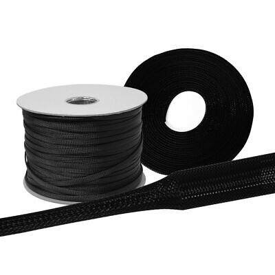 Fabric Hose Black Sold by the Meter Braided Hose Cable Hose Cable Protection